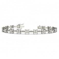 Rundes Diamant Designer Armband in einer 2er-Krappenfassung