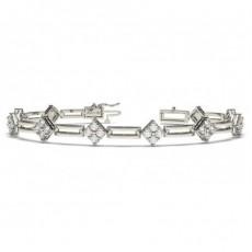 Rundes Diamant Designer Armband in einer Krappenfassung