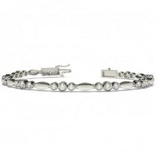 Rundes Diamant Designer Armband in einer Zargenfassung