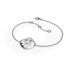 0.20ct. Rundes Petite Diamantarmband in einer Pavefassung