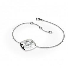 0.10ct. Rundes Petite Diamantarmband in einer Krappenfassung
