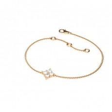 0.20ct. Rundes Petite Diamantarmband in einer 4 Krappenfassung