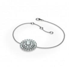 0.50ct. Rundes Petite Diamantarmband in einer Krappenfassung