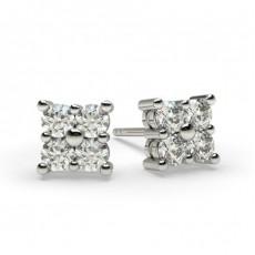 Mehrfachdiamant Ohrringe in einer Krappenfassung
