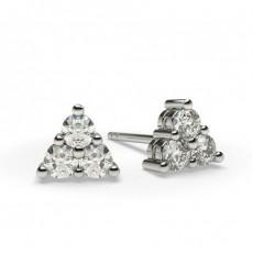 Mehrfachdiamant Ohrringe in Krappenfassung