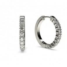 Runde Diamant Creolen in einer 4er-Krappenfassung