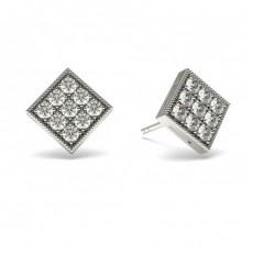 0.50ct. Runde Petite Diamantohrhänger in einer Pavefassung