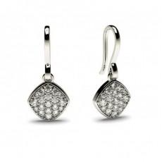 0.30ct. Runde Petite Diamantohrhänger in einer Pavefassung