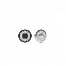 Runde Diamant Designer Ohrringe in einer Pavefassung