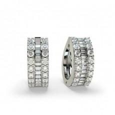 Runde Diamant Kronleuchter Ohrringe in einer Zargenfassung