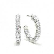 Runder Diamant Ohrhänger in Krappenfassung