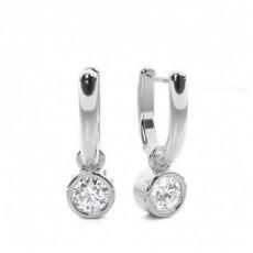 Diamant Kronleuchter Ohrhänger in einer Zargenfassung