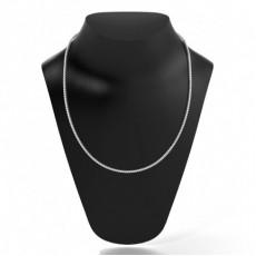 Tennis Halskette mit runden Diamanten in einer 4 Krappenfassung