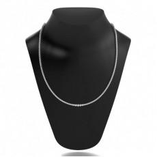 Tennis Halskette mit runden Diamanten in einer Krappenfassung