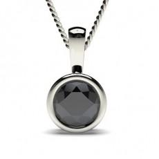 Schwarze Diamant Anhänger in einer Zargenfassung
