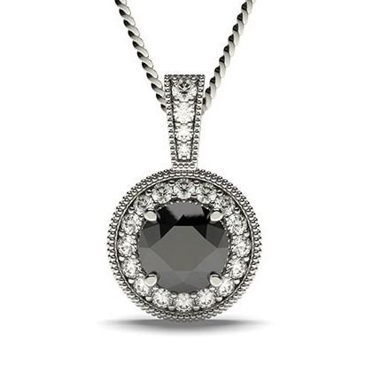 Multi schwarze Diamant Ohrstecker in einer Krappenfassung