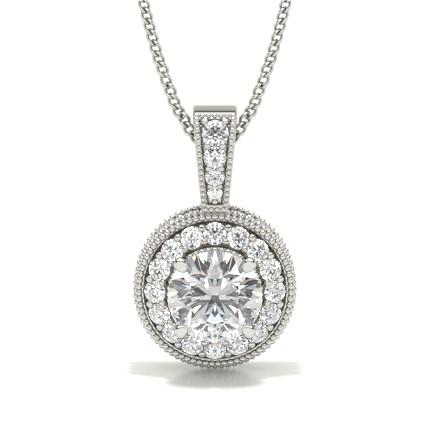 Multi Diamant Anhänger in einer Krappenfassung