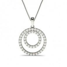 Diamant Kreis Anhänger in einer Krappenfassung