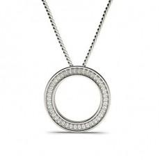 Diamant Kreis Anhänger in einer Kanalfassung