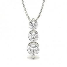Runder Diamant Kronleuchter Anhänger in einer 2er-Krappenfassung