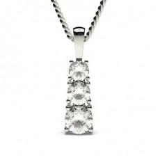 Runder Diamant Kronleuchter Anhänger in einer 4er-Krappenfassung