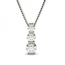 Runder Diamant Kronleuchter Anhänger in einer Balkenfassung