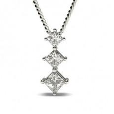 Prinzess Diamant Kronleuchter Anhänger in einer 4er-Krappenfassung