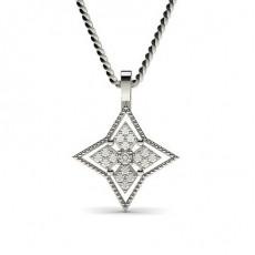 0.15ct. Runder Petite Diamantanhänger in einer Krappen und Pavefassung
