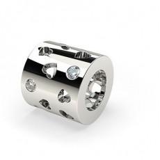 Runde Eingeriebene Diamant Charms