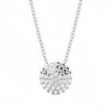 Runder Diamant Designer Anhänger in einer Krappenfassung