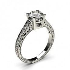 Diamantring in einer Krappenfassung mit medium Schulter Diamanten