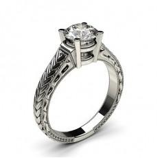 Großer Diamanten Verlobungsring in einer Krappenfassung