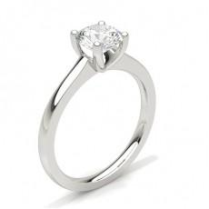 Dünner Diamant Verlobungsring in einer Krappenfassung