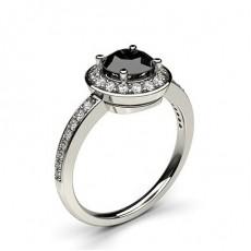 Multi schwarze Diamanten in einer Krappenfassung