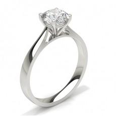 Diamantenring in einer Krappenfassung