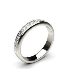 0.55ct. Halb Eternity Diamant Ring in einer Kanalfassung