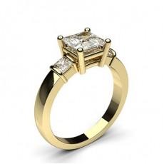 Drei Diamanten in einer Krappenfassung