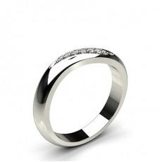 3.00mm diamantbesetzter Ehering mit einem flachen Profil