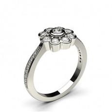 Runder Mehrfachdiamant Ring in einer Zargenfassung