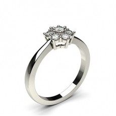 Brilliant Mehrfachdiamant Ring in Krappenfassung