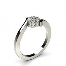 Brilliant Mehrfachdiamant Ring in Spannungsfassung