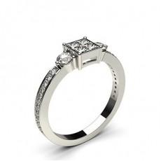 Mehrfachdiamant Ring in unsichtbarer Krappenfassung