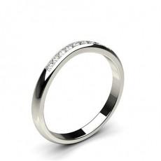 2.00mm diamantbesetztes Band mit einem flachen Profil
