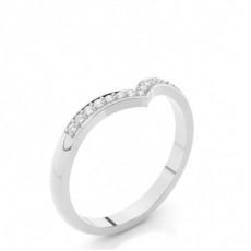 2.20mm diamantbesetztes Band mit einem flachen Profil