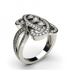 Runder Fashion Diamant Ring in einer Pavefassung