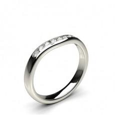 2.30mm Diamant Band geformt mit einem Flachen Profil