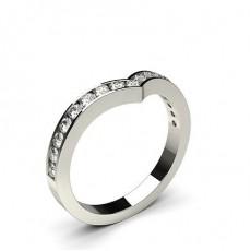 2.40mm Diamant Band geformt mit einem Flachen Profil