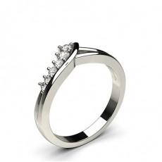 5.10mm Diamant Band geformt mit einem Flachen Profil