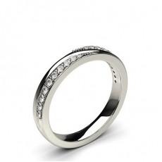 2.60mm Diamant Band geformt mit einem Flachen Profil