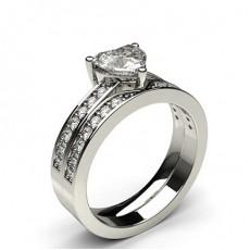Multi Diamant Verlobungsring in einer Krappenfassung mit Schulter Diamanten